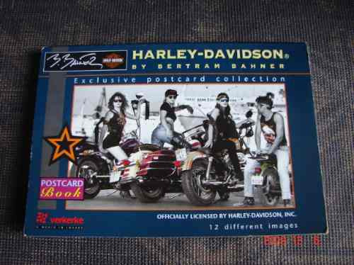 Libro De 12 Postales. Harley-davidson By Bertram Banner