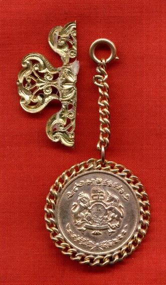 Medallón Fantasía De Metal Dorado + Detalle P/aplicar Olivos