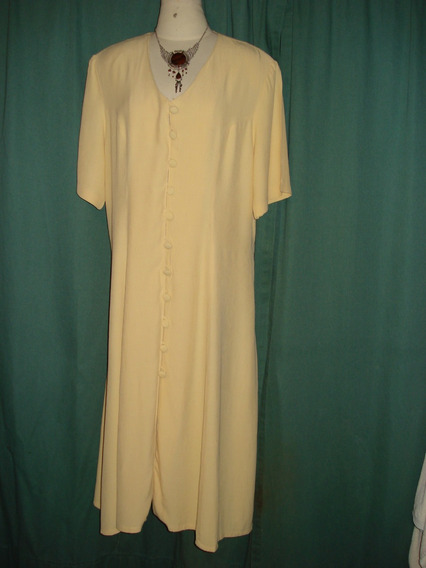 Vestido Amarillo Contorno De Sisa 115 Talle Xl / Xxl