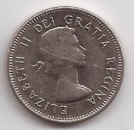 Canada Moneda De 5 Cents Año 1964 !!!