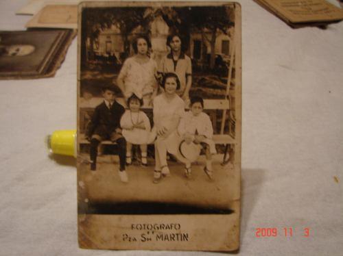 Tarjeta Postal Antigua. Fotografo De Pza. San Martin.