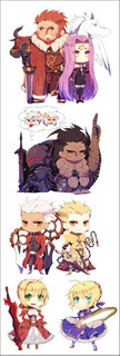 Plancha De Stickers De Anime De Fate/stay Night Saber Rider