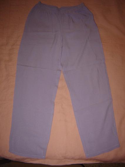 Pantalon Con Cintura Elastica