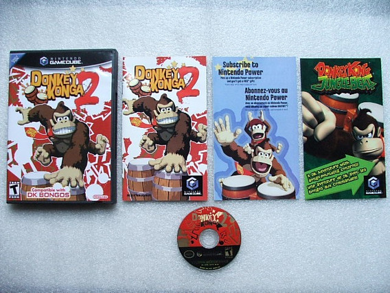 Game Cube: Donkey Konga 2 Original Americano Completo! Raro!
