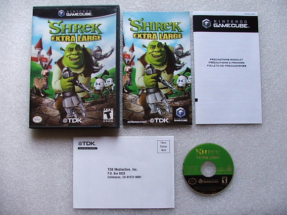 Game Cube: Shrek Extra Large Completo Americano!! Jogão!!