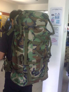 Mochila Mochilero Camping 80 Litros Camo Militar Ejercito Ar