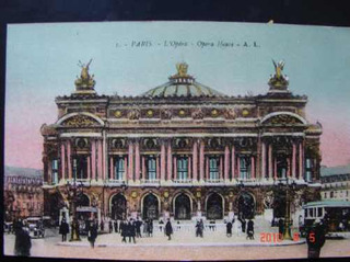 La Opera De Paris. Muy Antigua Postal.