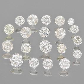 Lote Com 10 Diamantes Naturais De 1,18 X 1,09mm!!!