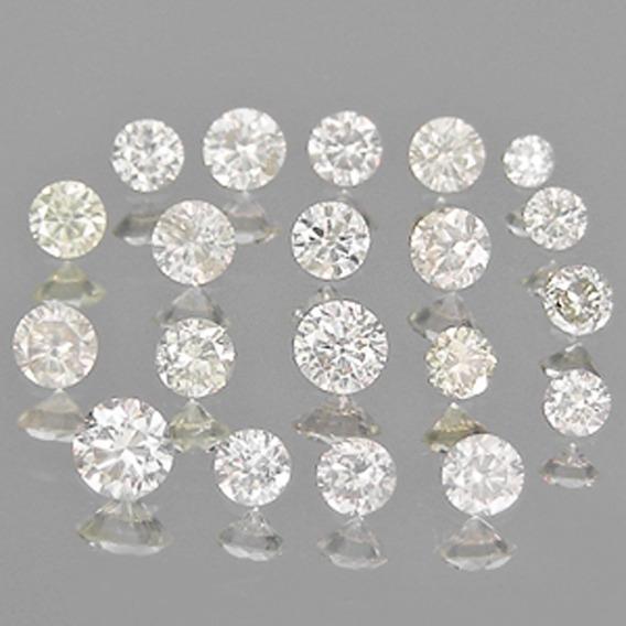 Diamantes Naturais De 1.75 X 1.01mm (2,5 Pontos)!!