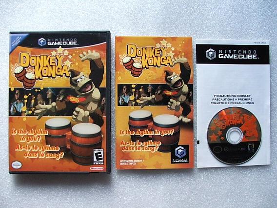 Game Cube: Donkey Konga Original Americano Completo! Jogão!
