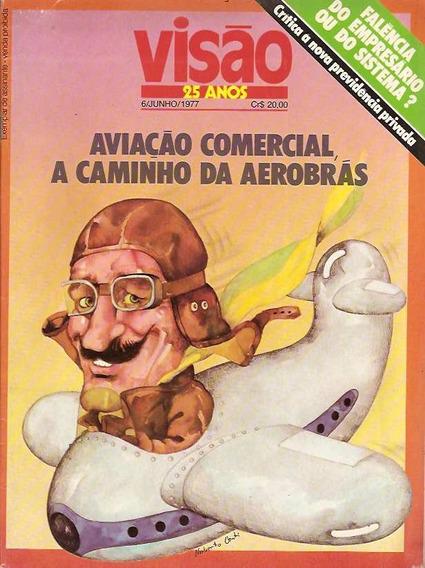 Visão 06 De Junho 1977 Aviação Comercial - Pampulha Aerobrás