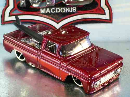 Hot Wheels 62 Chevy Pickup Custon Fe 13/2008 Lacrada