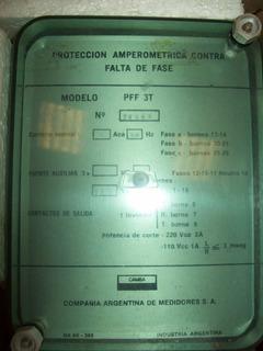 Monitor De Fase Proteccion Amperometrica Contra Falta Fase