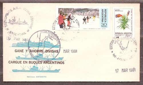 Antártida Argentina - Cargue Buques Argentinos - Sobre Color