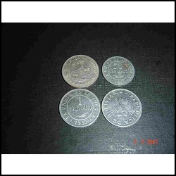 4 Monedas Bolivianas En Lote Todas Por