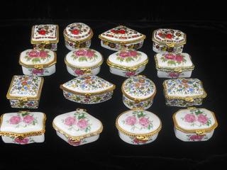 Alhajero O Pastillero Porcelana Mini X 12 Unid