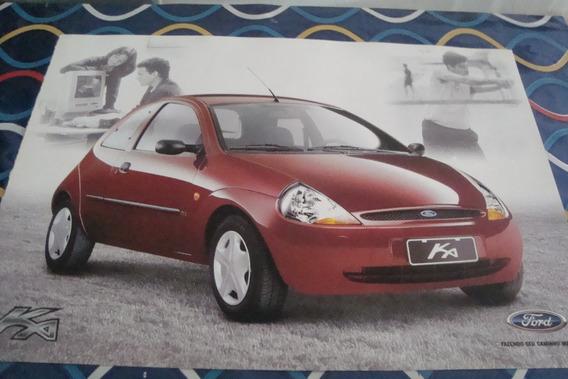 Poster Cartaz Foto Catalogo Ford Ka Vermelho
