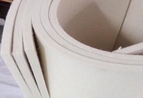 Feltro Branco Meio Duro 12mm Larg. 1,4mt X Compr. 1,0mt