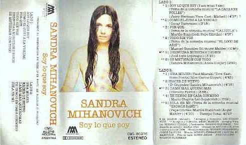 Sandra Mihanovich Soy Lo Que Soy ( Cassette )