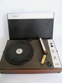 Vitrola Toca Discos Portátil Philips Antigo Coleção Decoraçã