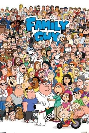 Poster Importado De Family Guy Con Todos Los Personajes