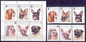 Bulgaria 1991. Fauna: Perros- 6 Estampillas + 1 Hoja Bloque