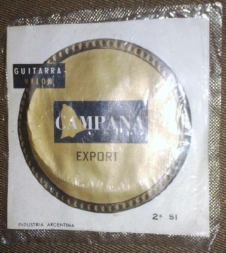 Cuerda De Guitarra Campana Ind. Argentina (2a. Si) Antigua