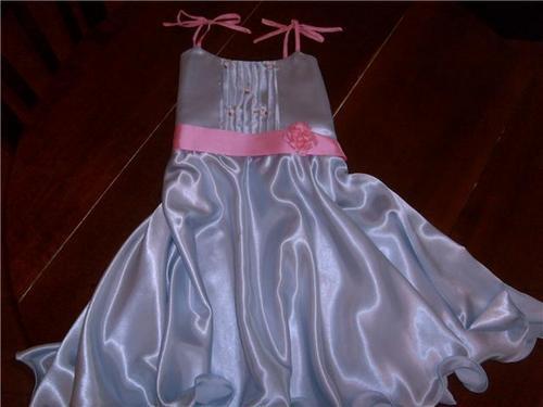 Vestido De Fiesta Color Celeste Talles 4-5-6-7-8