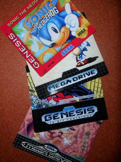 8 Labels - Etiquetas Para Mega Drive / Genesis - Jap/usa/br