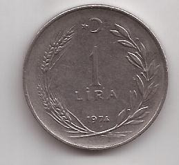 Turquia Moneda De 1 Lira Año 1974 !!!