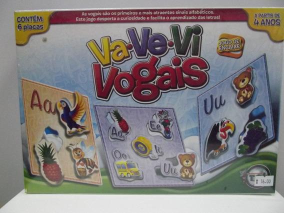 Brinquedo Jogo De Encaixe (va-ve-vi) Vogais-tóia (cód 2017)