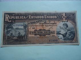 Cédula De 1 Mil Réis De 1918 R076 Autografada Sob/fe