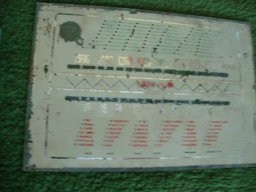 Dial De Rádio Antigo - Duas Faixas De Onda