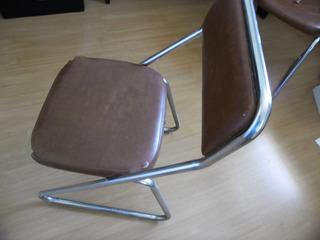 Cadeira Fixa Cromada Sem Rodas -usada No Estado