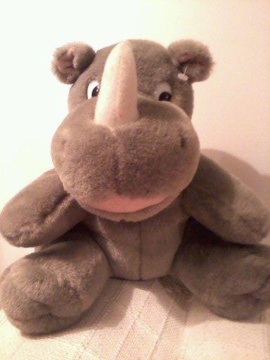 Rinoceronte De Pelúcia Marca Puff 24cm