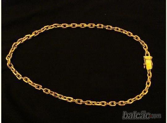 Cordão Cadeado Banhado A Ouro. Com Peso De Original. Só 149
