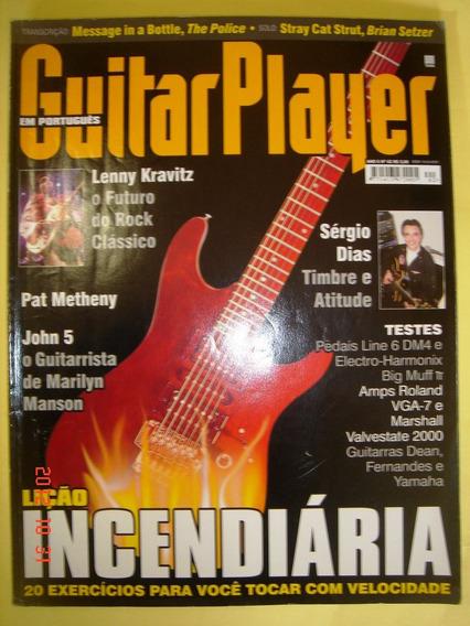 Guitar Player 06/2001 N.62/lição Incendiária/lenny Kravitz