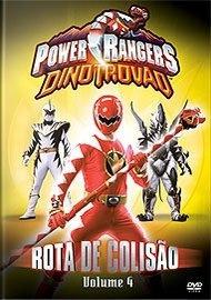 Dvd Power Rangers Dinotrovão - Rota De Colisão - Volume 4