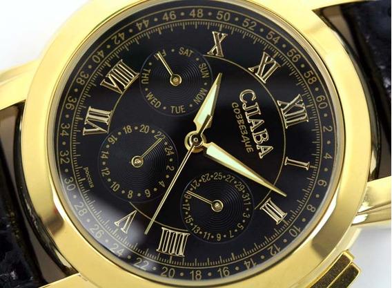 Relógio Cjiaba Gold Import
