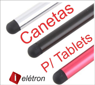 3 Canetas Co Prata Touch Para Tablets Xoom Coby Asus