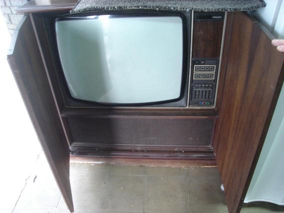 Tv Antiga Philips 26k226 - C/ Gabinete - P/ Colecionador Etc