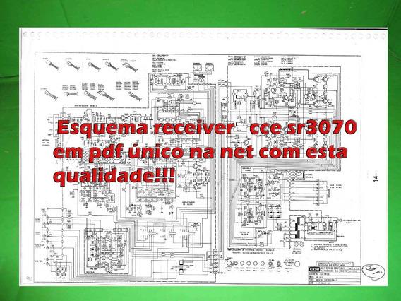 Esquema Receiver Cce Sr3070 Sr 3070 Em Pdf Não Pagar Fret