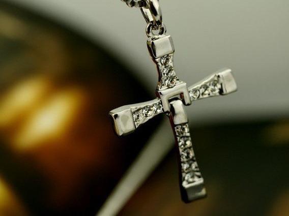 Corrente Com Pingente Crucifixo Kit Com 10 Unidades