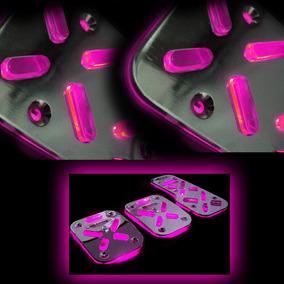 Pedaleiras Iluminada Led Neon Rosa +2 Barras Led Grátis