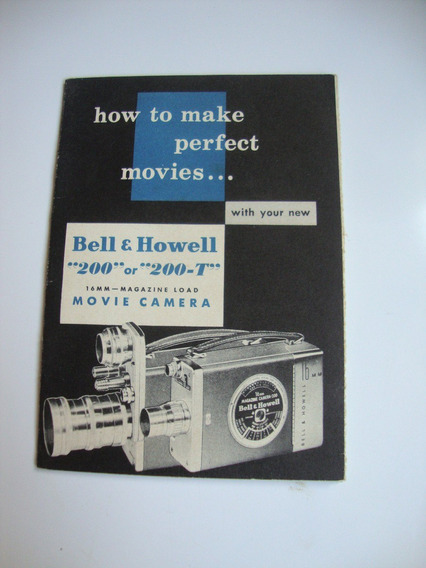 Bell & Howell 200-200t Filmadora- Manual De Instruções