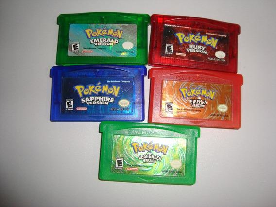 Pokemon Fita Gba Leaf Green Sapphire,ruby,emerald,valor Cada