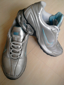 Tenis Nike Original Couro Prata Nº36