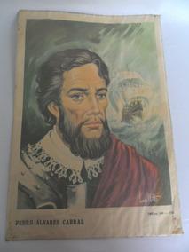 Gravura Retratando Pedro Álvares Cabral - Lanzellotti