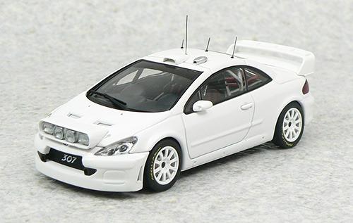 1:43 Autoart 60558 Peugeot 307 Wrc Plain Body Version White