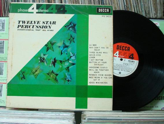 Dose Estrelas Percussão Internacional Pop - Lp Decca Encarte
